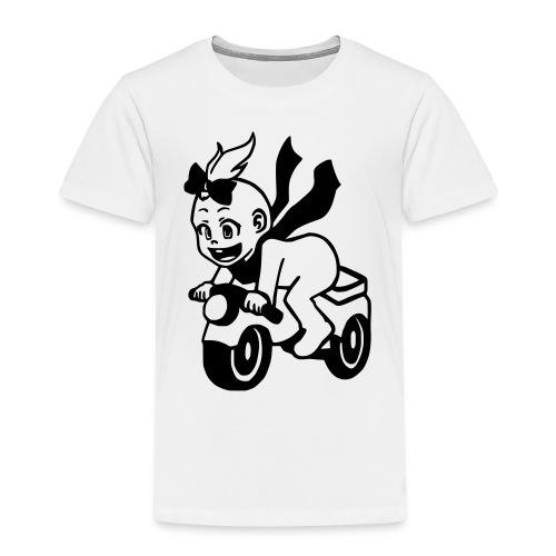 Mädchen auf Motorrad - Kinder Premium T-Shirt