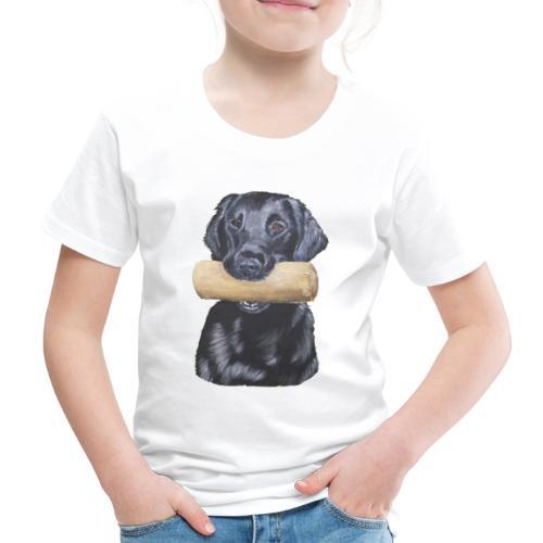 flatcoated retriever Dumbbell - Børne premium T-shirt