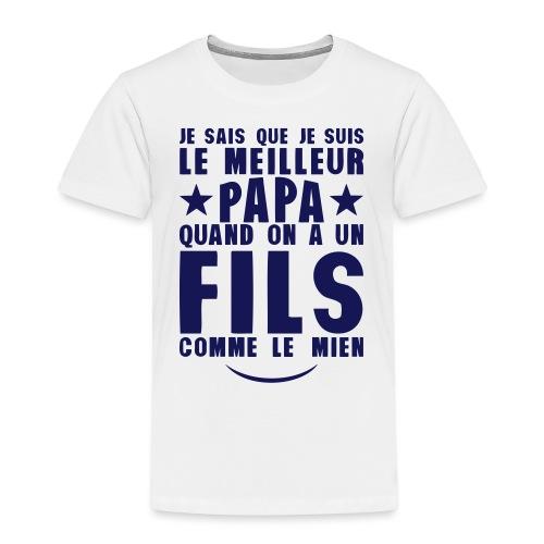 meilleur papa fils comme le mien citatio - T-shirt Premium Enfant