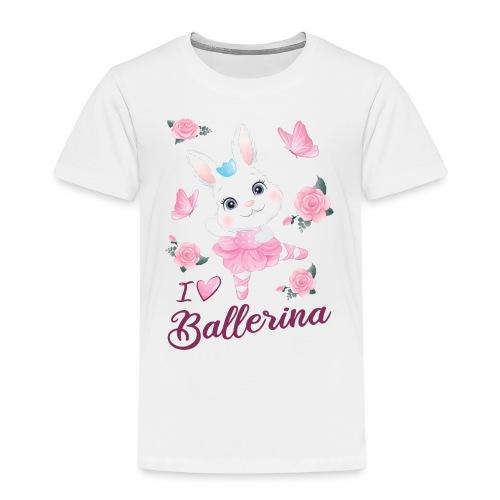 conejita ballerina con flores y mariposas - Camiseta premium niño