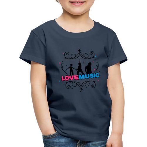Motif Love Music - T-shirt Premium Enfant