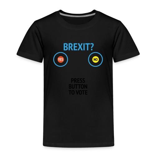 Brexit: Press Button To Vote - Børne premium T-shirt