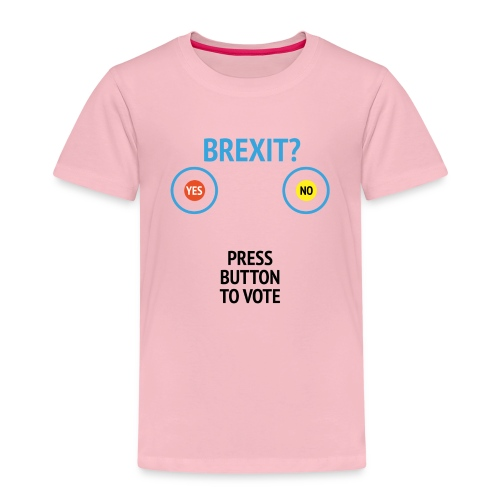 Brexit: Press Button To Vote - Børne premium T-shirt