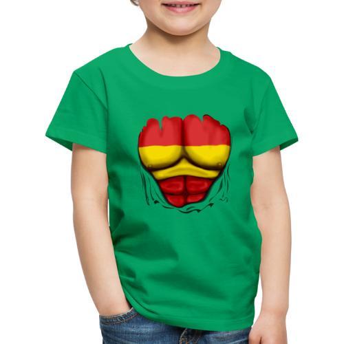España Flag Ripped Muscles six pack chest t-shirt - Kids' Premium T-Shirt