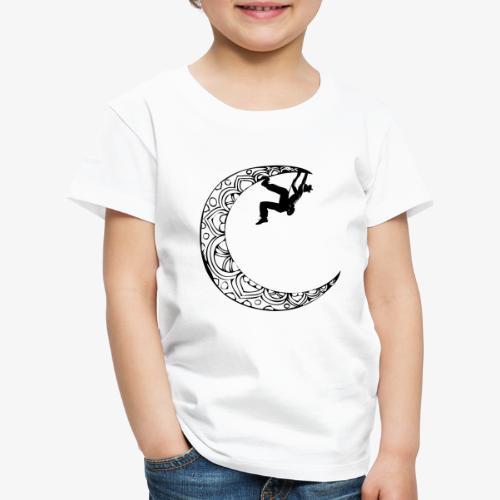 Escaladora en la luna - Woman climber in the moon - Kids' Premium T-Shirt