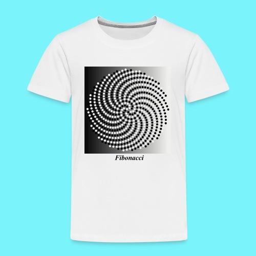 Fibonacci spiral pattern in black and white - Kids' Premium T-Shirt