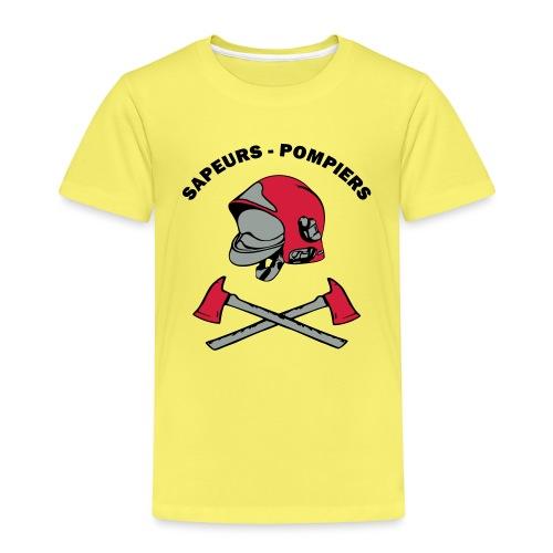 Sapeurs Pompiers petites haches casque Coul - T-shirt Premium Enfant