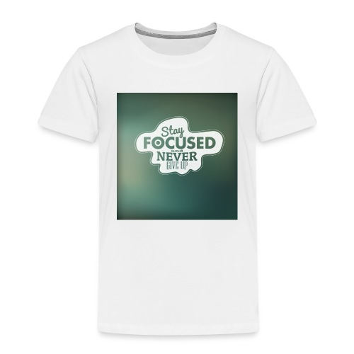 NEVER GIVE UP! - Børne premium T-shirt