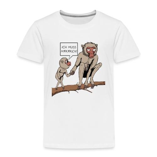 Halts Maul Mike - Makaken - Kinder Premium T-Shirt