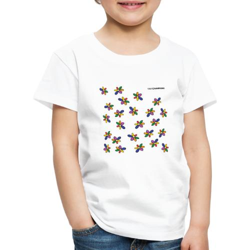 colour flower design tc - Kids' Premium T-Shirt