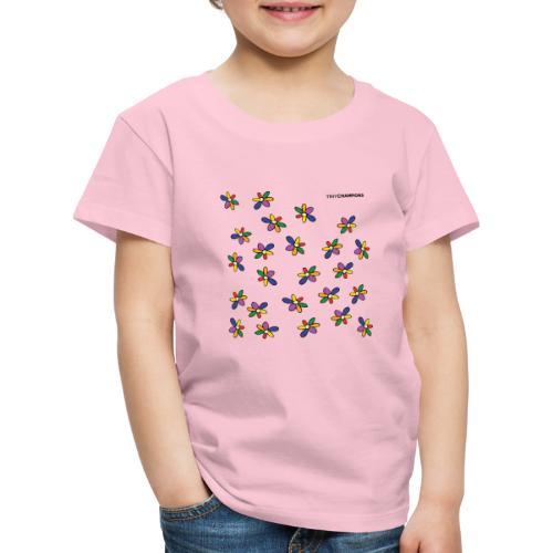colour flower design tc - Kids' Premium T-Shirt