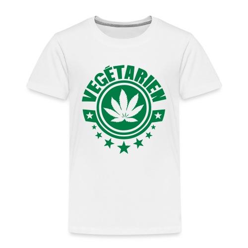 vegetarien feuille cannabis logo - T-shirt Premium Enfant