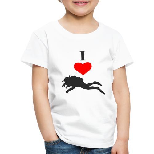 I Love Diving - Kinder Premium T-Shirt