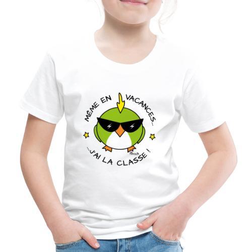 Oiseau Lunettes, Cadeau Instit, J'ai la Classe - T-shirt Premium Enfant