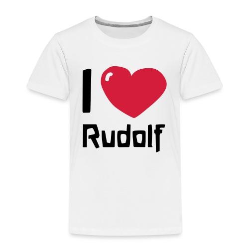 I love Rudolf - Kinder Premium T-Shirt