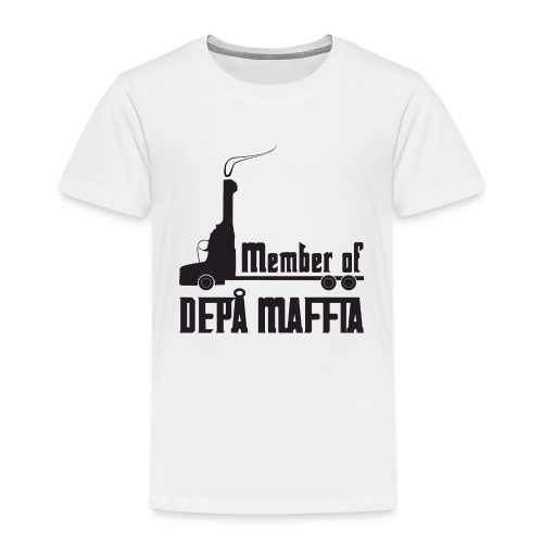 Depå Maffia svart tryck - Premium-T-shirt barn