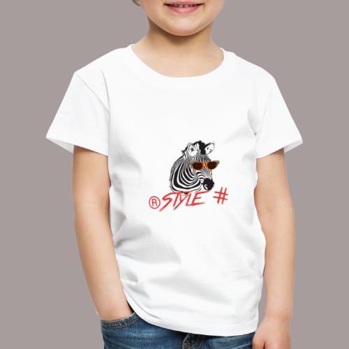 Tiere +Zebra +Zebras +Geschenk + Style + - Kinder Premium T-Shirt