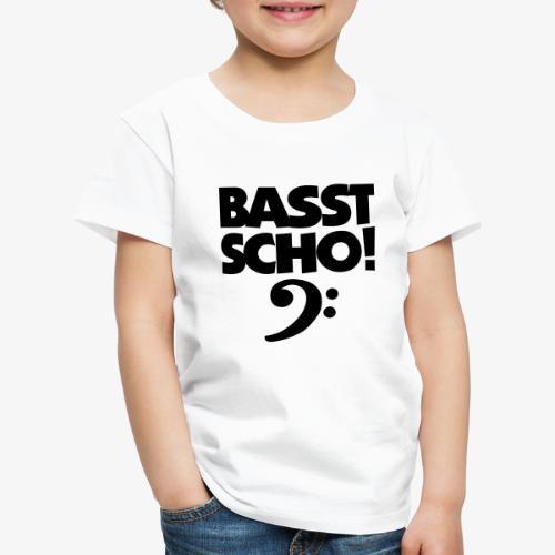 BASST SCHO! Bass Design für Bassisten - Kinder Premium T-Shirt