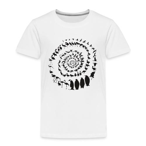 Wasservogelvögel in einer Spirale - Kinder Premium T-Shirt