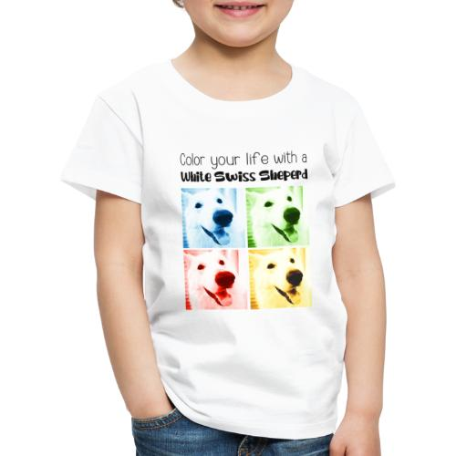 Color your life with a White Swiss Sheperd - T-shirt Premium Enfant