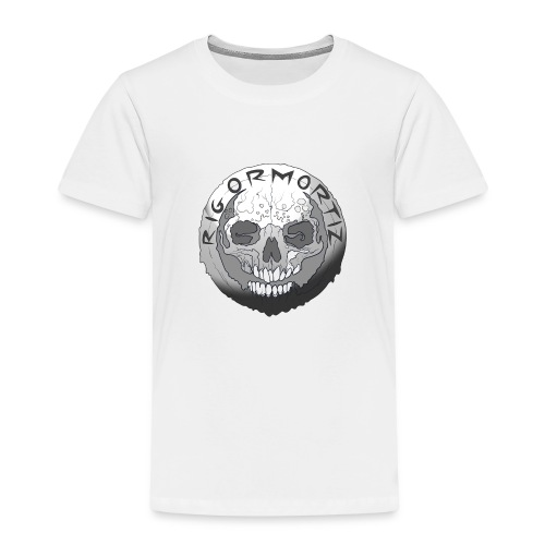 Rigormortiz Black and White Design - Kids' Premium T-Shirt