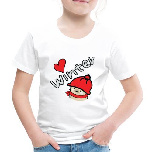 Mochie love winter s - Kids' Premium T-Shirt