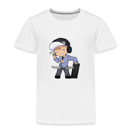 Kapuze Komma Näher mit Text by ShinaiShadow2 png - Kinder Premium T-Shirt