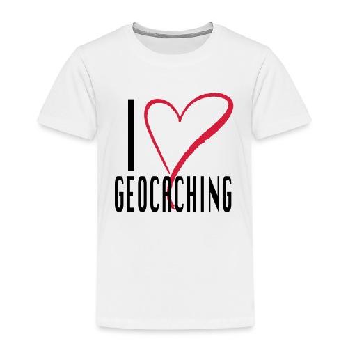 I love Geocaching - Lasten premium t-paita