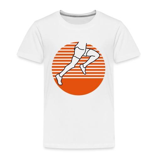 Läufer seitlich zweifärbig runner running - Kinder Premium T-Shirt