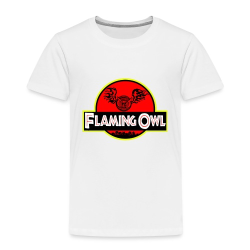 Flaming Jurassic Owl - Premium-T-shirt barn