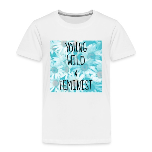 young, wild and feminist - Premium-T-shirt barn