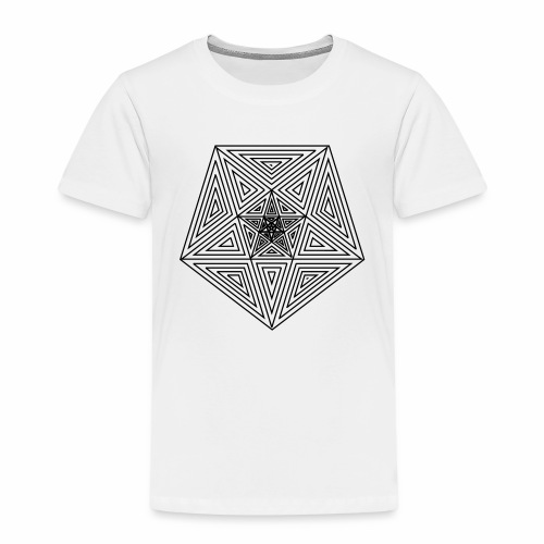 Pentagramm einfach - Kinder Premium T-Shirt
