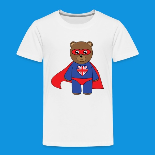 British Hero Bear tank - Kids' Premium T-Shirt
