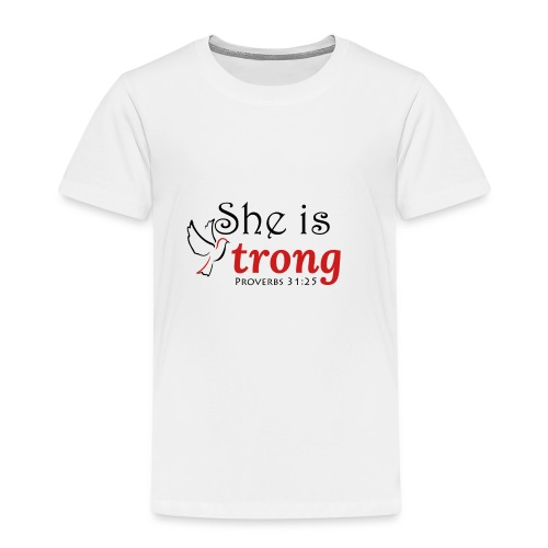 she is strong - Kids' Premium T-Shirt