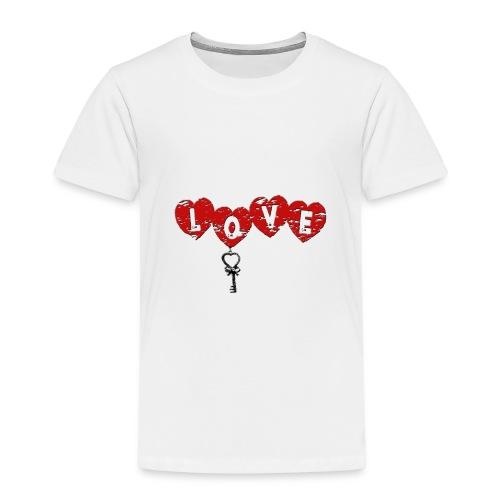 Love HERZSCHLÜSSEL-1 - Kinder Premium T-Shirt