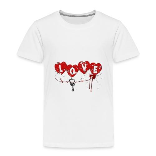 Love HERZSCHLÜSSEL Blutsp - Kinder Premium T-Shirt
