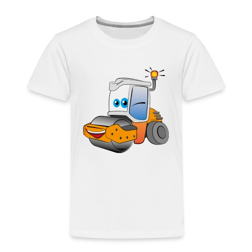 Baumaschine Straßenwalze Erdbau Bauarbeiter - Kinder Premium T-Shirt