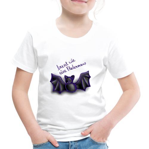 bunt wie eine Fledermaus - Kinder Premium T-Shirt