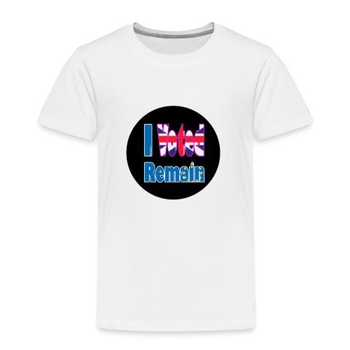 I Voted Remain badge EU Brexit referendum - Kids' Premium T-Shirt