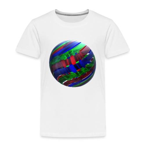 RGB Nested Ribbon Spheres - Kids' Premium T-Shirt