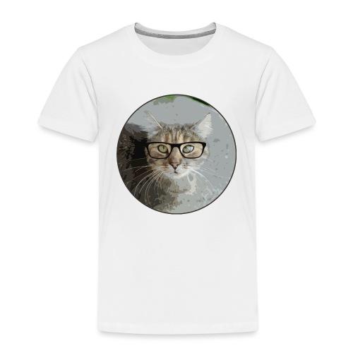 Hippe Katzentasche - Kinder Premium T-Shirt