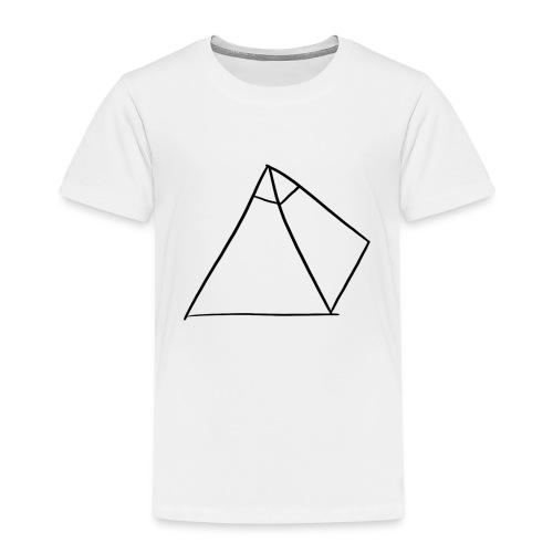Tasse Blanche/Noir - Logo Noir P Y R A - T-shirt Premium Enfant