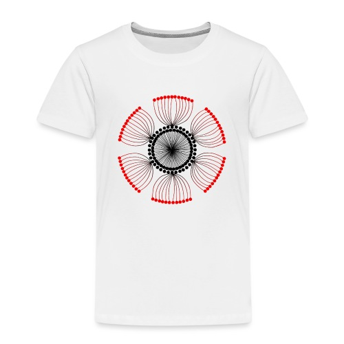 Red Poppy Seeds Mandala - Kids' Premium T-Shirt