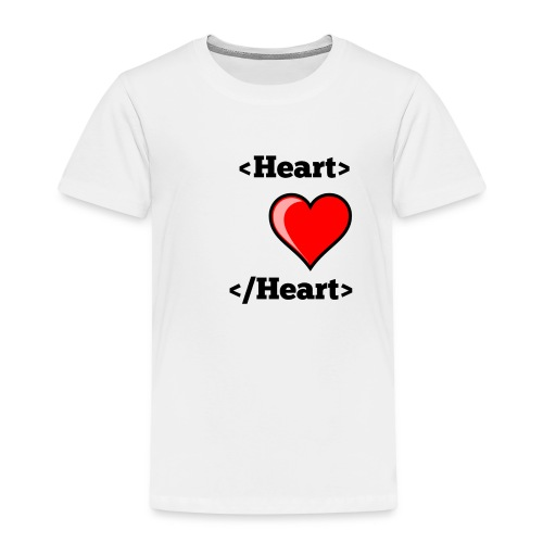 Html Heart - T-shirt Premium Enfant