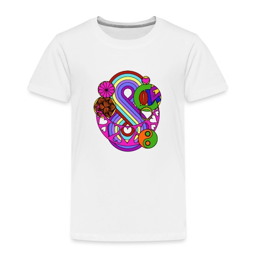 Colour Love Mandala - Kids' Premium T-Shirt