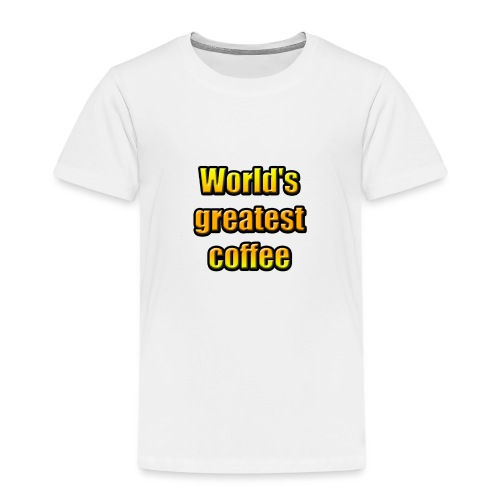 World's greatest coffee (Black Edition) - T-shirt Premium Enfant
