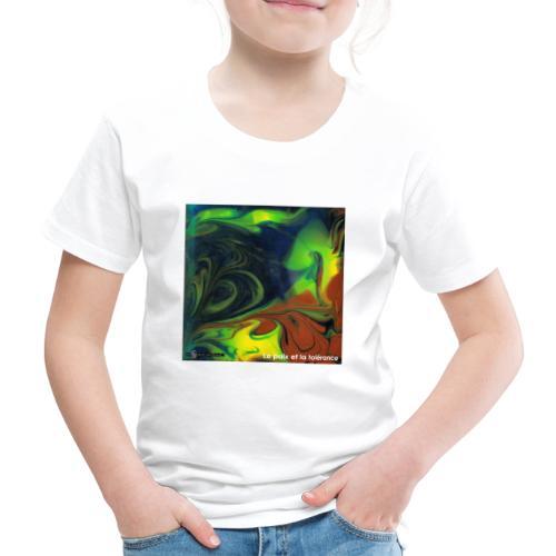 TIAN GREEN Mosaik CH080 - Le paix et la toerance - Kinder Premium T-Shirt
