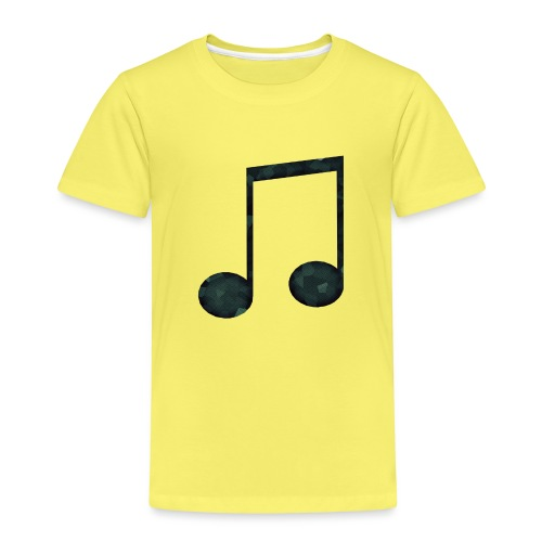 Low Poly Geometric Music Note - Kids' Premium T-Shirt