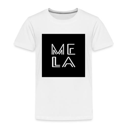 Mela Svart Logo - Premium T-skjorte for barn