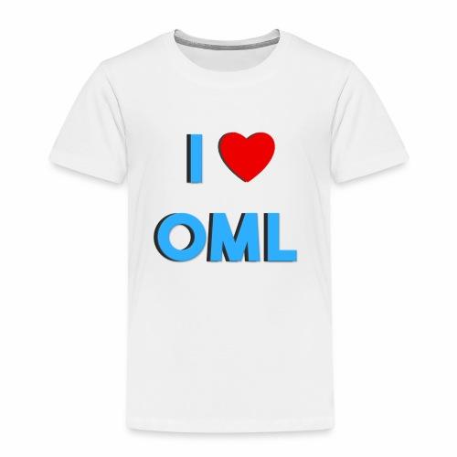 I LOVE OML - Kinderen Premium T-shirt